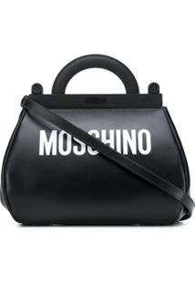 Moschino Bolsa Tiracolo Com Estampa De Logo - Preto