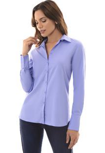 Camisa Richini Tricoline Azul