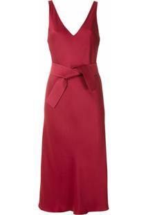 Gloria Coelho Vestido Midi Com Amarração - Vermelho