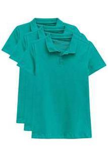 Kit De 3 Camisas Polo Femininas