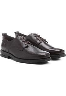 Sapato Conforto Couro Shoestock Amarração - Masculino