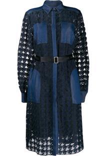 Karl Lagerfeld Vestido Jeans Burn Out - Azul