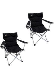 Kit 2 Cadeiras Dobráveis Nautika Boni Com Porta Copo - Unissex