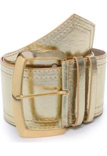 Cinto Birô Metalizado Dourado