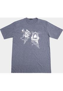 Camiseta Local Tigre Gola Careca Masculina - Masculino-Mescla Escuro