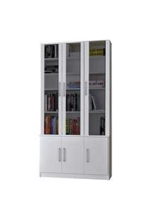 Estante De Livros 6 Portas Branco M Foscarini