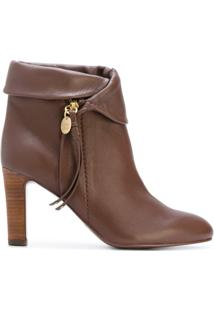 See By Chloé Ankle Boot De Couro - Brown