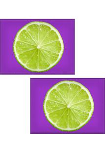 Jogo Americano Colours Creative Photo Decor - Limão - 2 Peças