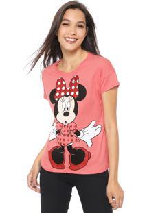 Blusa Cativa Disney Minnie Glitter Rosa