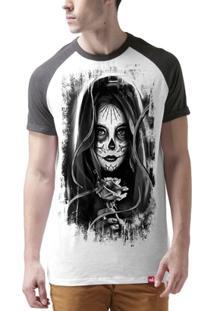 Camiseta Raglan Caveira Mexicana - Masculino
