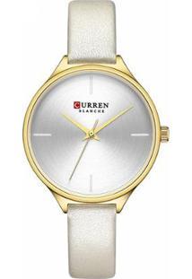 Relógio Curren Analógico C9062L Feminino - Feminino-Dourado