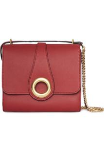 Burberry The Leather Grommet Detail Crossbody Bag - Rosa