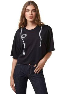 Blusa Cropped Feminino Com Estampa Hering + À La Garçonne