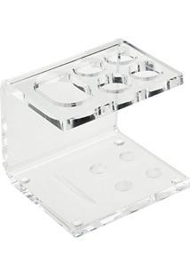 Porta Escova De Dente Em Acrílico - Suporte Para 4 Escovas + Creme Dental