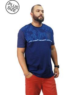 Camiseta Plus Size Premium Gangster Azul