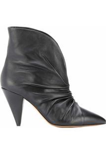 Isabel Marant Ankle Boot Bico Fino - Preto