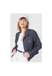 Jaqueta Jeans Forever 21 Bolsos Azul-Marinho