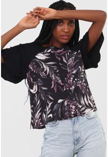 Camiseta Triton Folhagem Preta