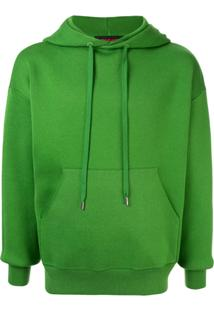 Caban Drawstring Hooded Sweater - Green