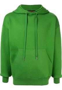 Caban Drawstring Hooded Sweater - Green