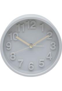 Relógio Marble Cinza 13X13X5 Cm