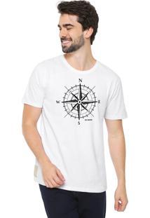 Camiseta Eco Canyon Rosa Dos Ventos Branco