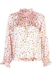 Cynthia Rowley Penny Ruffle Sleeve Blouse - Rosa