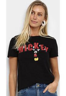 Camiseta Cativa Disney Mickey Feminina - Feminino-Preto