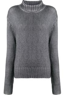 Aragona Rollneck Knit Sweater - Cinza