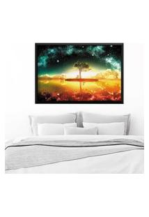 Quadro Love Decor Com Moldura Universe Tree Preto Grande