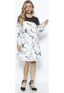 Vestido Com Renda- Off White & Pretolez A Lez