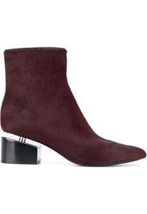 Alexander Wang Ankle Boot De Couro 'Jude' - Vermelho