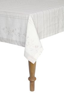 Toalha De Mesa Quadrada Artex 1,60X1,60 M Anti Mancha Alessa Bege