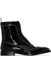 Church'S Ankle Boot Com Tachas - Preto