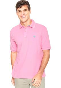 Camisa Polo Mr Kitsch Logo Rosa