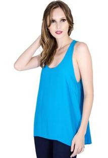 Blusa Regata Básica Colcci Feminino - Feminino-Azul