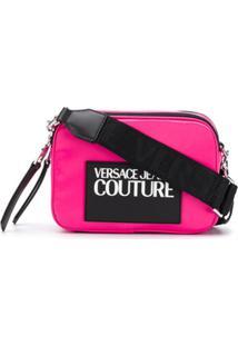 Versace Jeans Couture Bolsa Tiracolo Com Logo Contrastante - Rosa