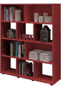 Estante Book Vermelha Vermelha