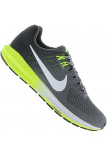 Tênis Nike Zoom Structure 21 - Masculino - Cinza Esc/Verde Cla