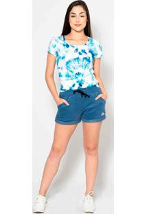 T-Shirt Kruger'S Concept Tie Dye Azul - Kanui