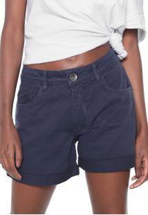 Bermuda Sarja My Favorite Thing(S) Reta Low Comfort Azul-Marinho