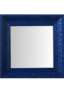 Espelho Moldura Rococó Fundo 16436 Azul Art Shop
