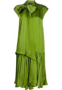 Rochas Vestido Reto Com Laço Na Gola - Verde
