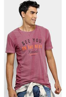 Camiseta Calvin Klein See You Masculina - Masculino-Bordô