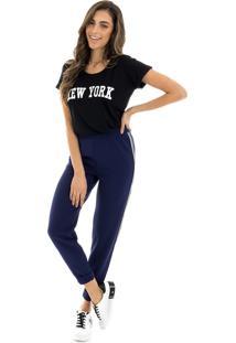 T-Shirt La Mandinne New York Preta