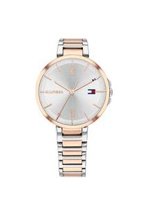 Relógio Tommy Hilfiger Feminino Aço Prateado E Rosé - 1782209