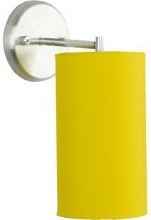 Arandela CilãNdrica De Cãºpula 14X25Cm Amarela - Amarelo - Dafiti