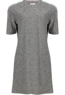 Vestido Seeder Camisão De Moletom - Feminino-Cinza+Preto