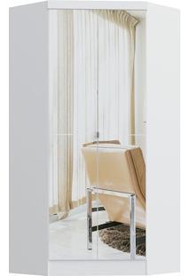 Modulo De Closet Com 2 Porta E 2 Gavetas C/ Espelho Infinity 3806A-Castro Móveis - Branco