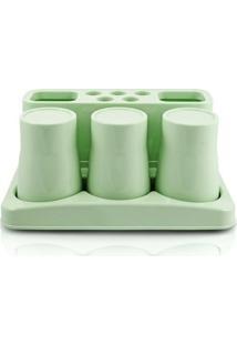 Kit De Banheiro De 5 Peças Jacki Design - Unissex-Verde
